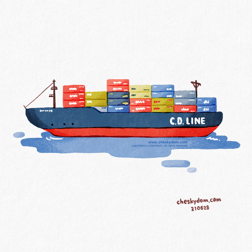 貿易船のイラスト