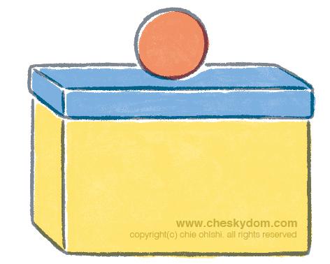 箱とボール