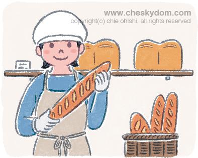 パン屋イラスト