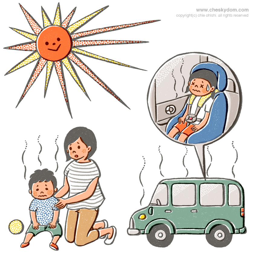 熱中症に関するイラスト