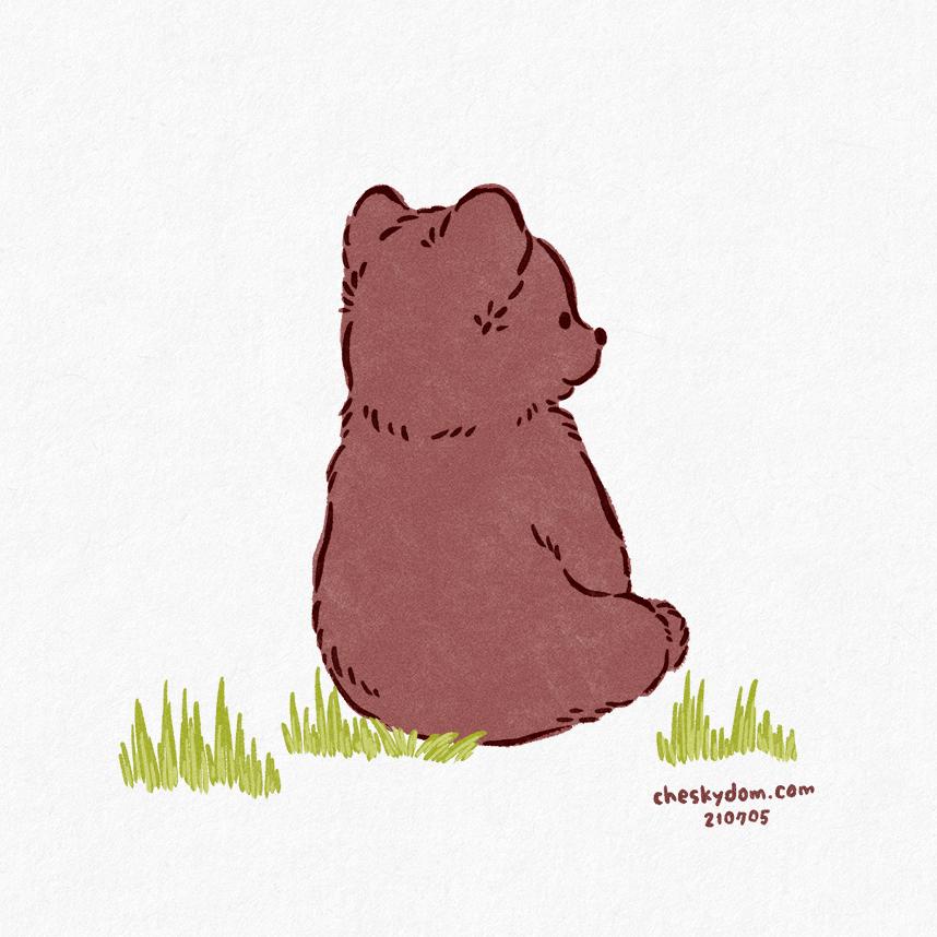 子熊のイラスト